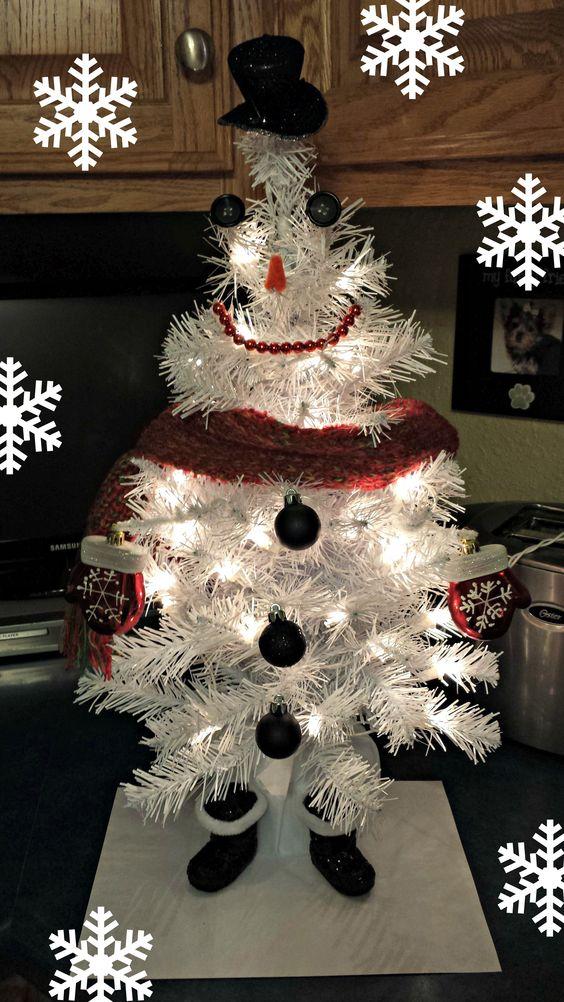 Mini Snowman Tree