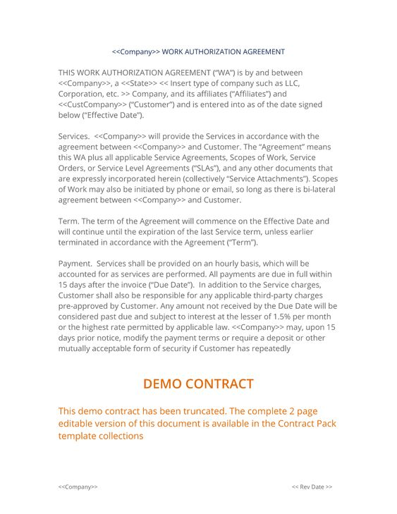 Simple Work Authorization Agreement - The Simple Work - investment management agreement