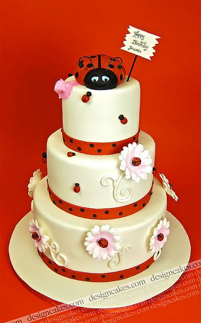 Ladybug cake by Design Cakes, via Flickr