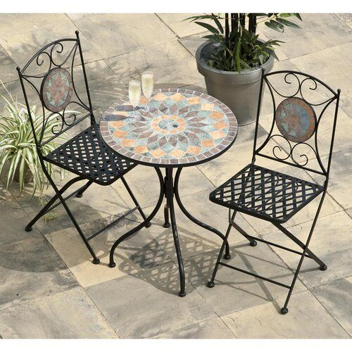 Boudreaux 2 Seater Bistro Set Sol 72 Outdoor In 2020 Mosaic