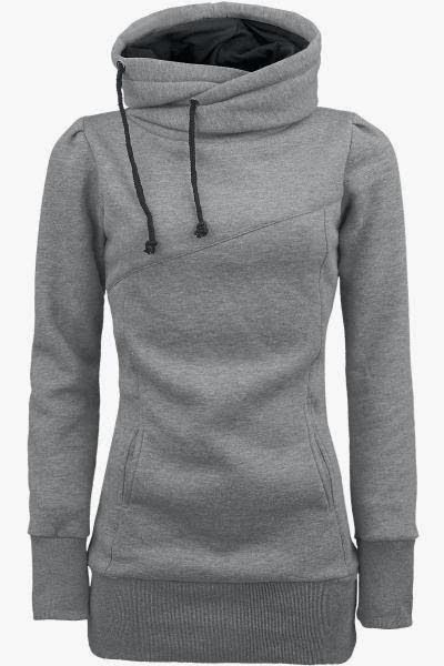 Womens Grey Hoodie - Trendy Clothes