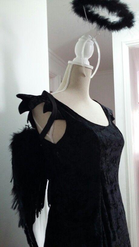 Angel negro disfraz