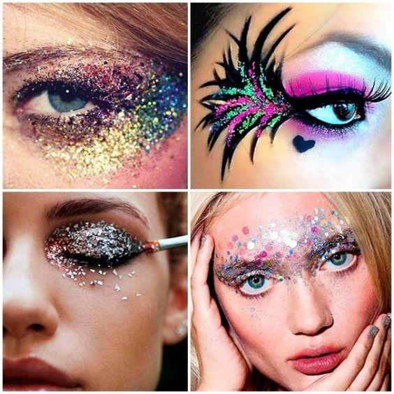"""""""Dica de make para quem vai estender o Carnaval e cair na folia esse fds! Simples e lindo! ;) #carnaval #diy #make #makeup"""""""