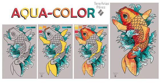 ilustracion digital con texturas de acaurelas digitales. Su proceso de trabajo de ir poniendo los colores.