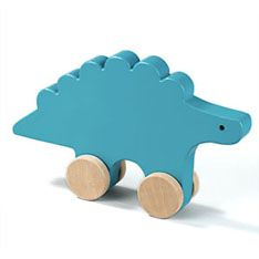 wooden push toy dino