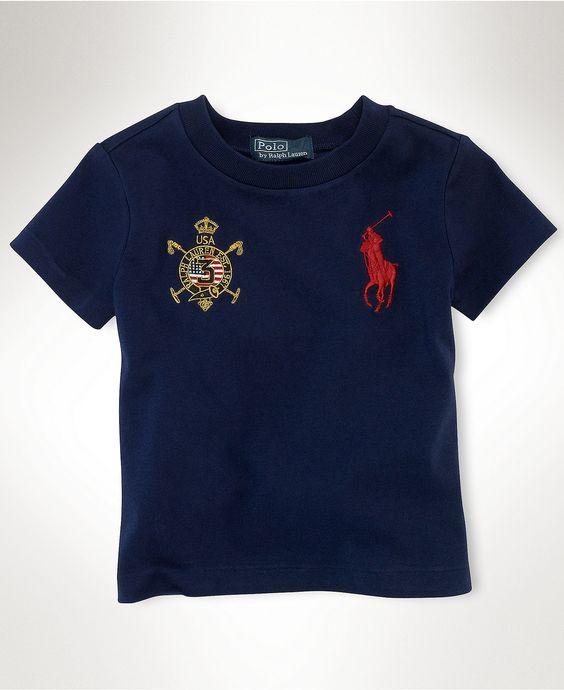 Ralph Lauren Baby T-Shirt, Baby Boys USA Tee - Kids Baby Boy - Macy's