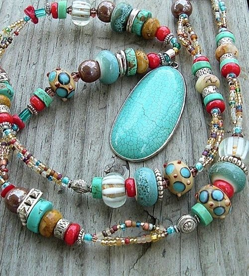 Multicolor Boho Cowgirl Western Style Necklace By Bohostyleme Jewelry Diy Pinterest