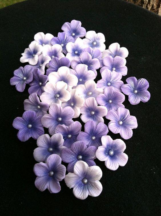 Gum Paste Blossoms Different Shades of Purple | Blütenpaste ...