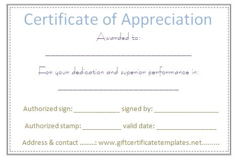 Certificates Of Appreciation - Templates, Samples \ Wording Arts - certification of appreciation wording