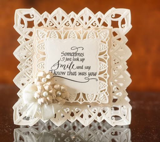Image Result For Spellbinders Chantilly Paper Lace By Becca Feeken