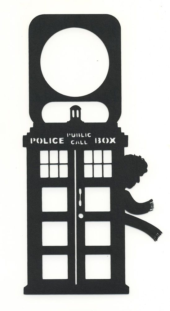 Doctor Who TARDIS 4TH Doctor Door Knob Hanger Black Plastic Sign Do Not Disturb