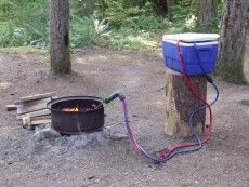 Endless Hot Water Using a Campfire as a Source of Heat