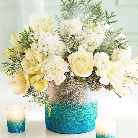 Receptions glitter and centerpieces on pinterest