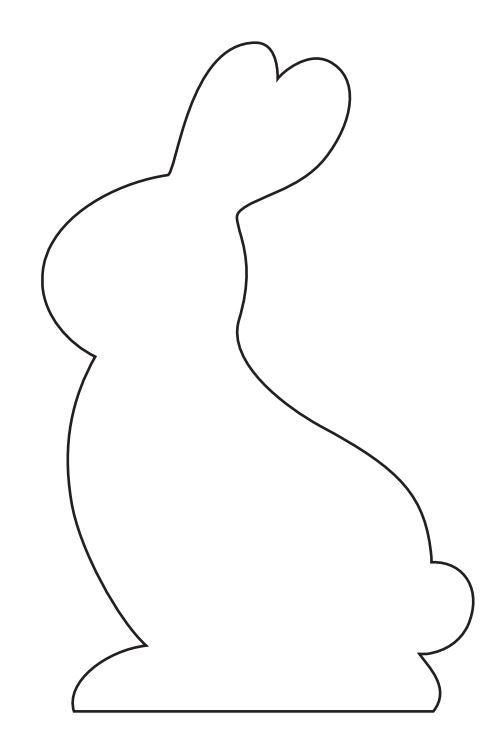 Rabbit Ears Silhouette Kaninchen, Papier f&#2...