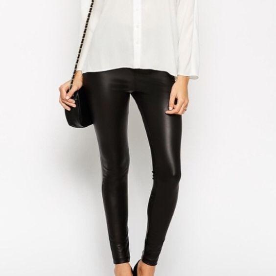 Leather Look Leggings Tall