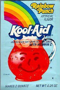 Rainbow Punch Kool-Aid - MEMORIES - 80's & 90's - juice