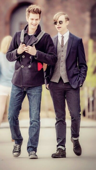 Dane DeHaan as Harry Osborn and Andrew Garfield as Peter Parker, - The Amazing Spiderman 2 #tasm 2 #parksborn