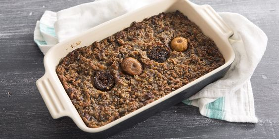 Sally Abé shares her recipe for fig and chestnut stuffing – a delicious alternative to traditional stuffing and the perfect accompaniment to roast turkey for Christmas, chicken, pork or other roasts.