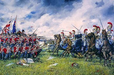 The 23rd Foot form square at Waterloo 1815
