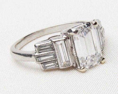 Art Deco Diamond Engagement Ring Isadoras Antique Rings Art Deco Diamond Ring Engagement Art Deco Engagement Ring Oval Diamond Engagement Ring