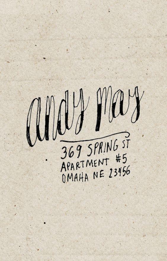 cool handwriting - custom return address label - hand drawn personalized name & address - via Etsy.