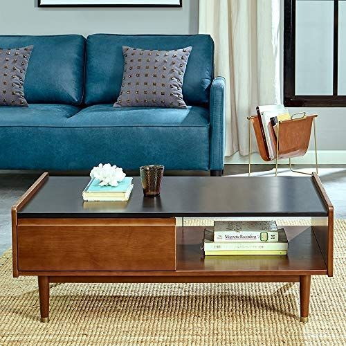 This Mid Century Modern Coffee Table Is Both Useful And Stylish With An Mid Century Modern Coffee Table Mid Century Coffee Table Black Furniture Living Room