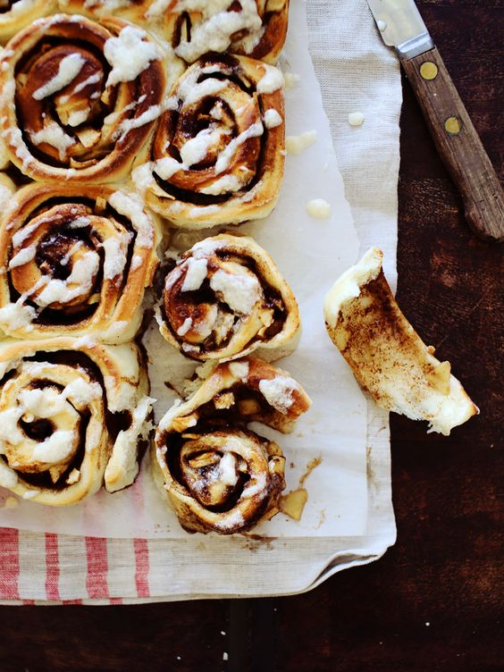 Gooey Apple Cinnamon Rolls with Buttermilk Icing. Insanity, people. They're just so good.