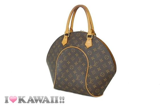 Authentic Louis Vuitton Monogram Ellipse MM Bag Hand Purse Boston Free Shipping!