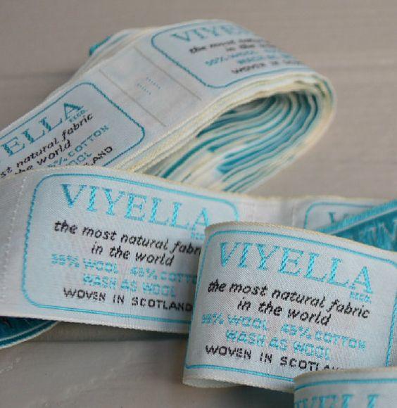 Viyella fabric labels from 1960s by McBurneyandBlack on Etsy