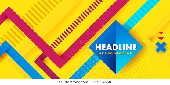 Headline Presentation Abstract Yellow Vector Abstract Background
