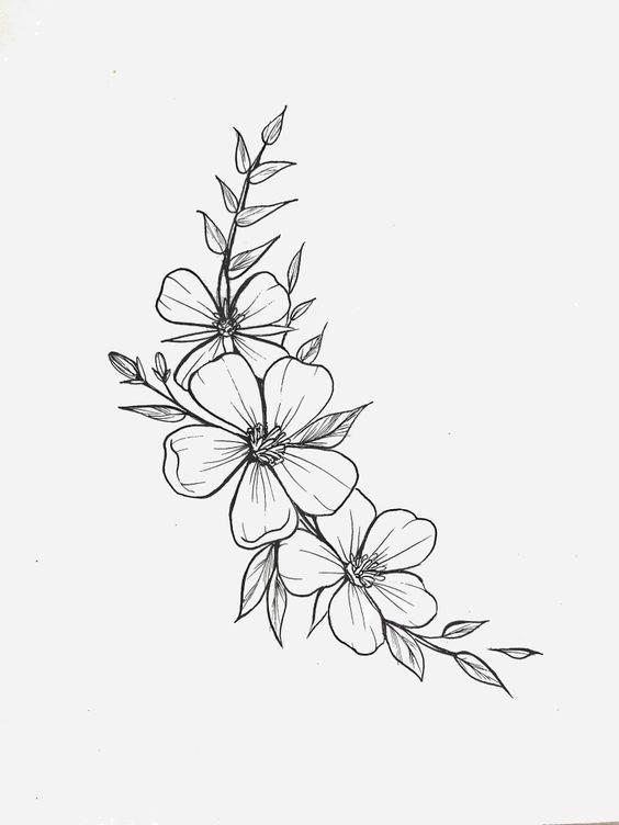 Tattoo Drawings Flowertattoos Flower Tattoos Designs Tattoo Drawings Flowertattoos In 2020 Flower Tattoo Designs Tattoos Flower Drawing Design