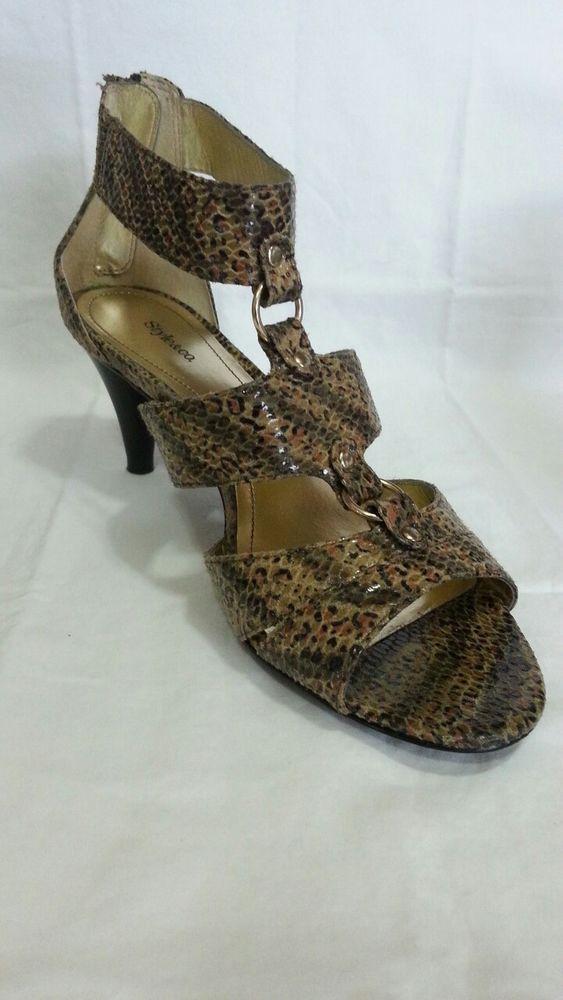 Gladiator Snakeskin Print Shoes SZ 8M  #Styleco #gladiator #shoesobsession #fashionista @InStyle
