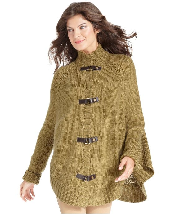 Jones New York Signature Sweater, Long-Sleeve Poncho by @Macy's Official #coffeetableapp