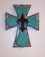 cross with fleur de lis