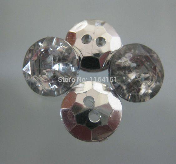 Cheap 150pcs / lot de los nuevos botones de ajuste de los botones de cristal plateada accesorios artesanales coser botón del rhinestone ropa para los botones sueltos de artesanía, Compro Calidad Botones directamente de los surtidores de China:             Detalles de los productos                  material:
