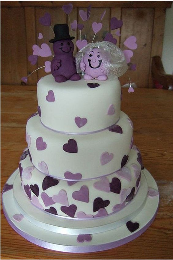 Wedding Cake Design Ideas wedding cake decoration ideas reflect your style wedding cake decorations diy wedding decorations Love The Purple Hearts