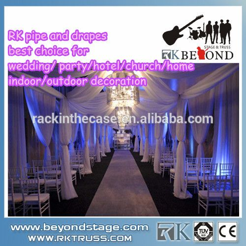 Cheap RK portable pipe & drape/ stage decoration backdrop design ...
