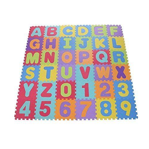 36pcs Alphabet Number Baby Kid Play Crawling Mat Toddlers Foam Floor Game Playmat Interlocking Foam Puzzle Eva K Kids Play Floor Kids Foam Floor Baby Floor Mat