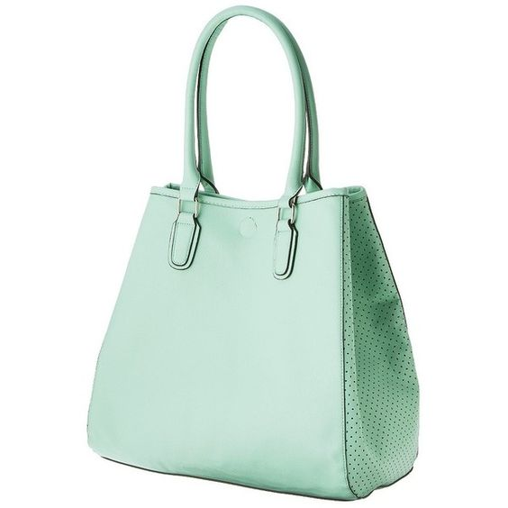 Merona® Perforated Tote Bag - Green ($33) ❤ liked on Polyvore