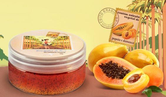 Gel Esfoliante Corporal Papaia e Damasco: com esfoliante natural que revitaliza a pele, promovendo toque macio e suave. Encontre aqui: http://goo.gl/ngXR9p