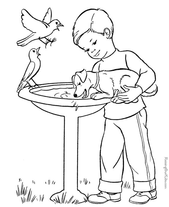 Bird baths Embroidery and Coloring sheets on Pinterest