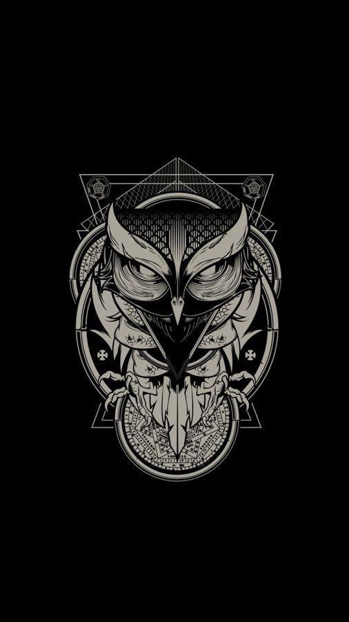 Hd Phone Wallpaper Hd Phone Wallpaper Abstractgraffititattoo Graffititattoogod Graffititattoone Owl Artwork Owl Wallpaper Owl Tattoo Design Full hd black owl wallpaper