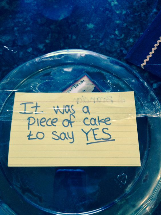 What A Cute Way To Say Yes Congrats To U Both Happily