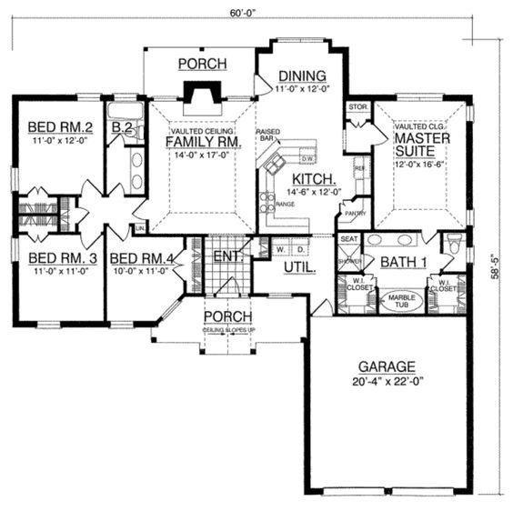 Southern Main Floor Plan Plan 40 250
