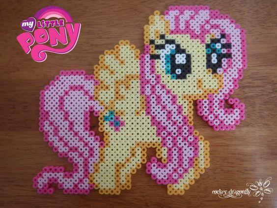 My Little Pony: Friendship is Magic, Flutter Shy !!! Perler Beads Creation by: RockerDragonfly