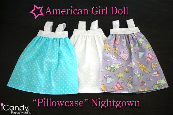 "18"" doll ""Pillowcase"" Nightgown"