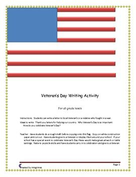 flag day writing prompt