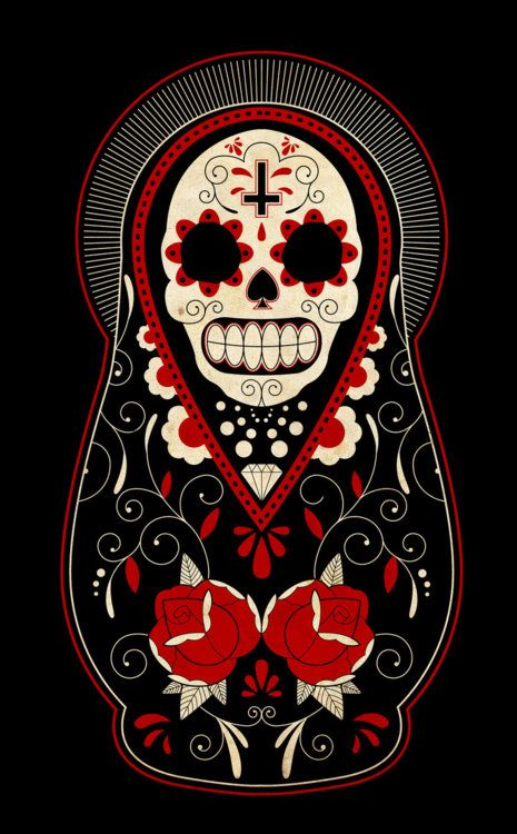 sugar skull. russian doll.