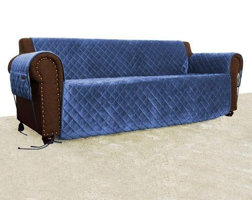 Quilted Velvet Pet Sofa Cover Water Resistant Couch Furniture