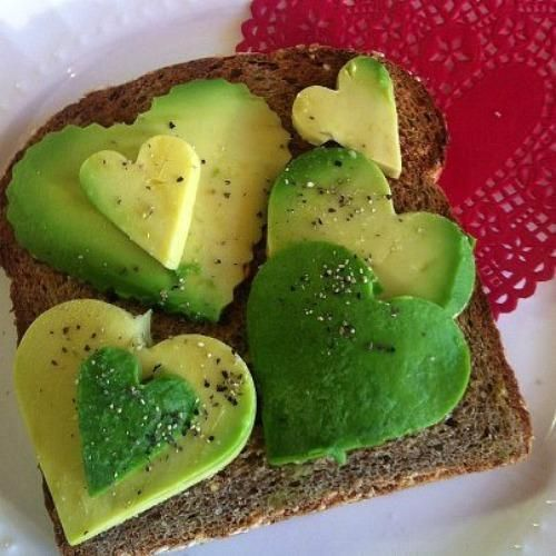 BE STILL OUR HEARTS. Avocado toast for V-day. For you @Ruth H. Martinez!